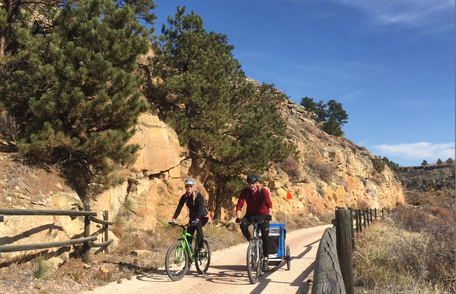 Biking on the Mickelson Trail. At Spearfish Physical Therapy, we will get you back to the things you love.